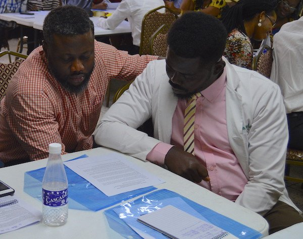 Group work during the 3 day LUTH IPC Basics Training