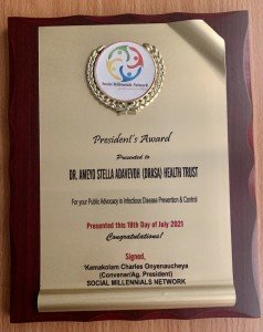 Photo of the award received